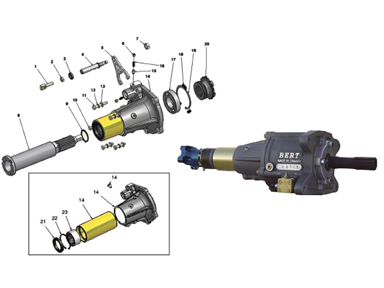 Bert Second Generation 1500 Tail Assembly Parts