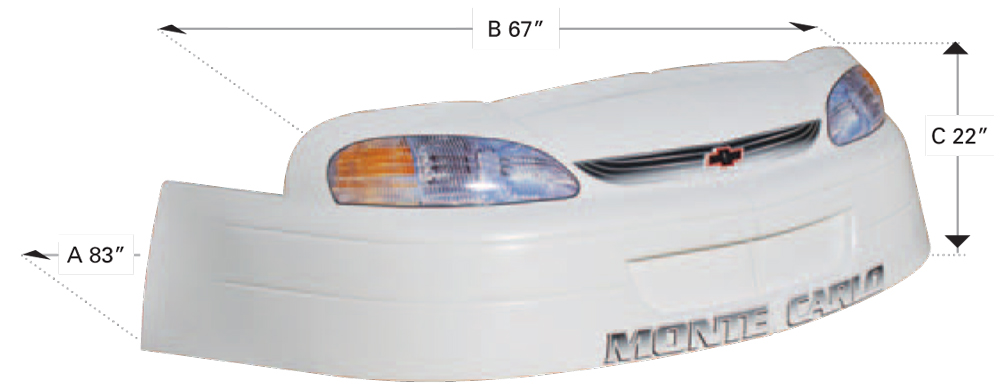 1999 Monte Carlo Nose - (Black)