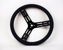 "Longacre Steel Steering Wheel - 15"" Black"