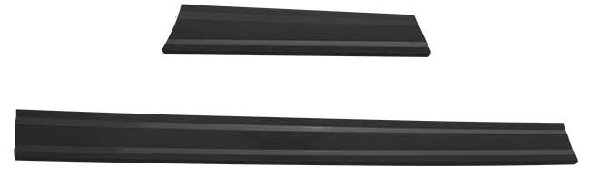 Late Model Plastic Rocker Panel Kit - (Black)