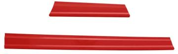Late Model Plastic Rocker Panel Kit - (Red)