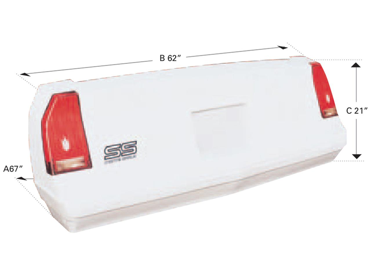 1981-88 Monte Carlo Tail/Decal Combo - (White)