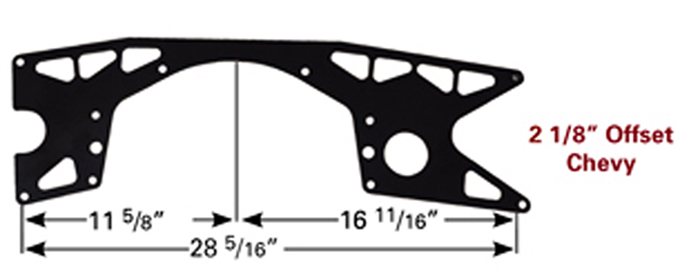Picture of PRP  Offset Lightweight Chevy Motor Plate