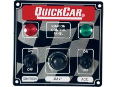 Quickcar Ignition Panel -1 Acc Switch w/2 Lights - (Flag)