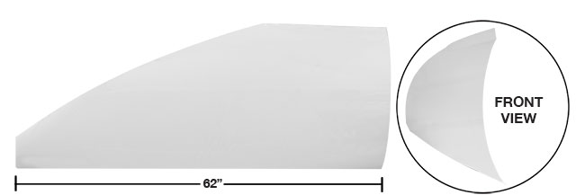 "Modified 62"" Straight Roof Post Kit - (White)"