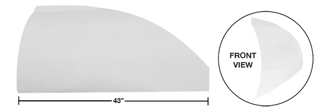 "Modified 43"" Straight Roof Post Kit - (White)"