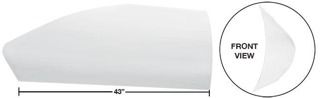 "Modified 43"" Angled Roof Post Kit - (White)"