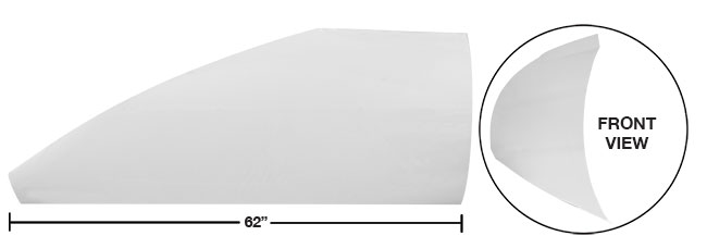 """Modified 62"""" Angled Roof Post Kit - (White)"""