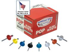 "POP 3/16"" Rivets - Large Head (5/8"") - Black - (Qty 250)"