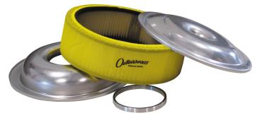 "PRP Super Flow Washable 4"" Air Filter Kit - (Offset/Yellow)"