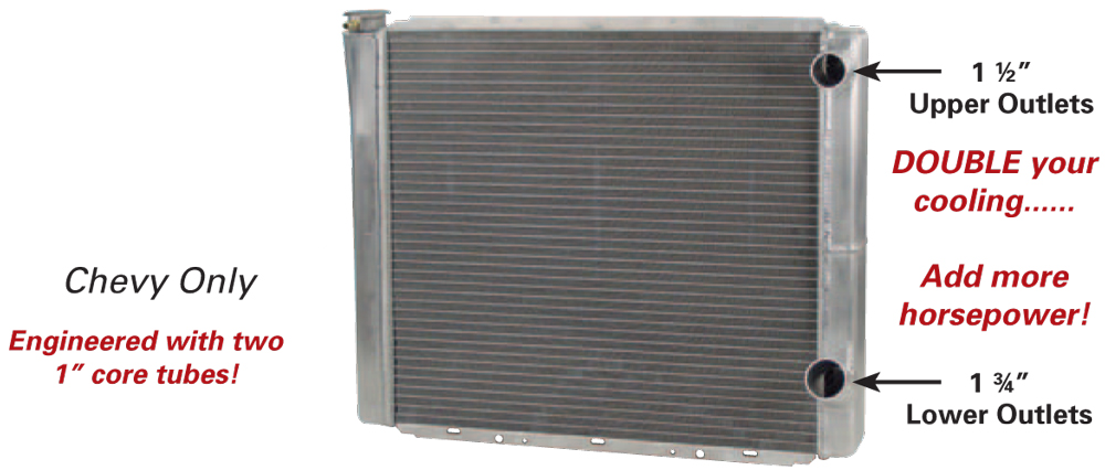 """AFCO Double Pass Chevy Radiator - (19"""" x 22"""")"""