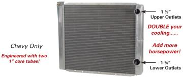 Picture of AFCO Double Pass Chevy Radiator