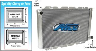 Picture of AFCO Chevy Double Row Radiator