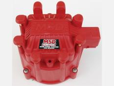 MSD Extreme Output GM HEI Distributor Cap - (Red Cap)