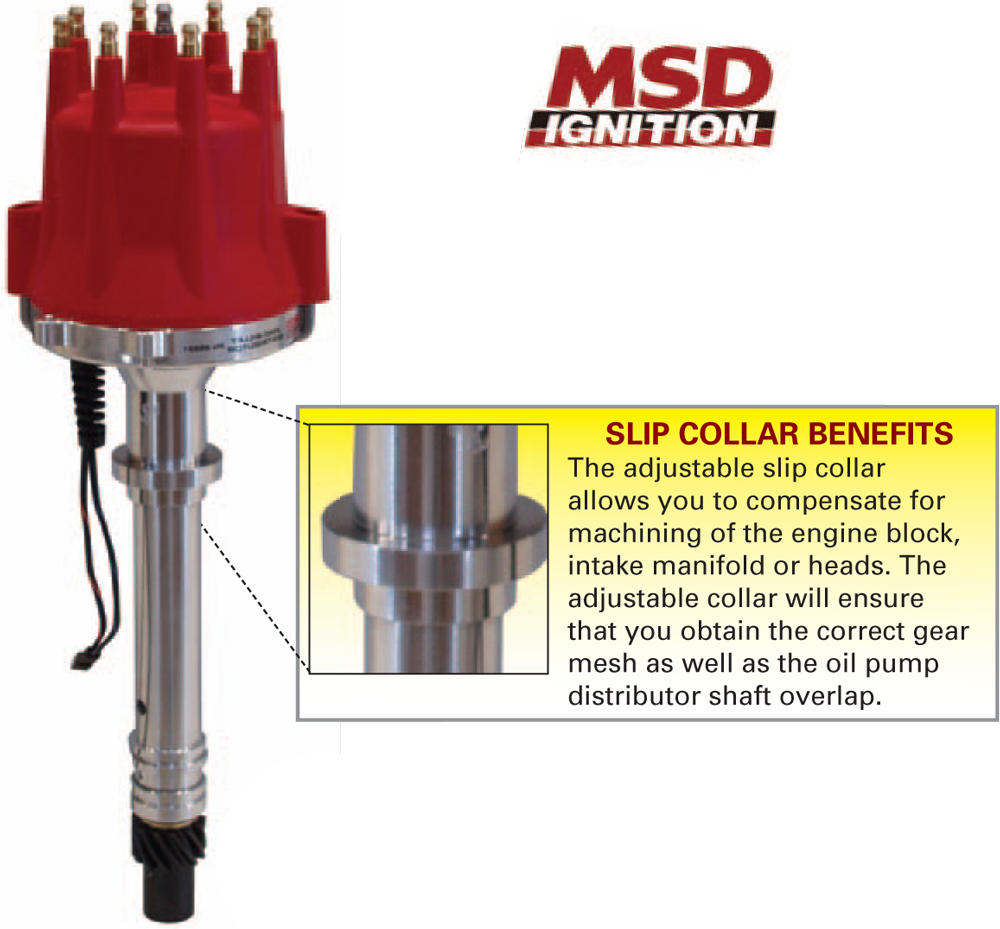 MSD Chevy Pro-Billet Small Diameter Distributor - (Red Cap)