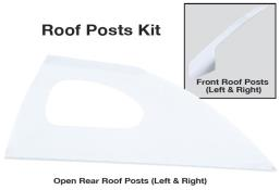 Late Model Window Opening Roof Post Kit - (White)