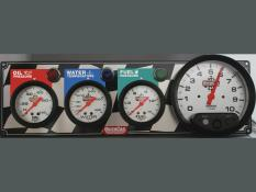 "Quickcar 3 Gauge Flag Panel w/ 5"" Tach - OP/WT/FP"