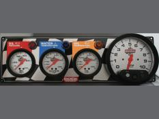 "Quickcar 3 Gauge Flag Panel w/ 5"" Tach - OP/WT/OT"