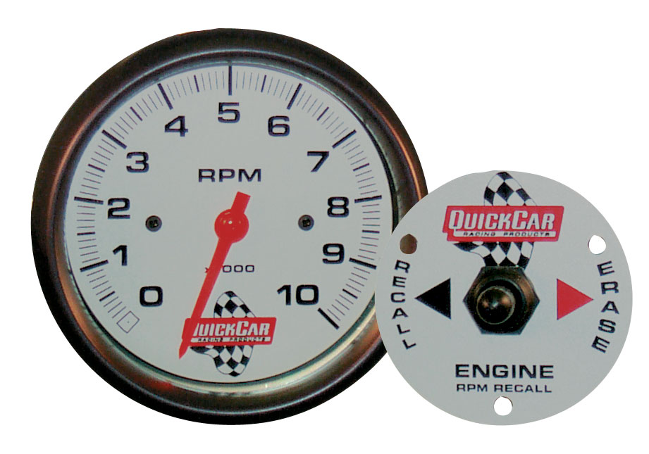 """Picture of Quickcar Tach 3 3/8"""" With Remote Recall"""