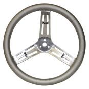 "Longacre Aluminum Steering Wheel - 15"" Big Grip W/Bumps"