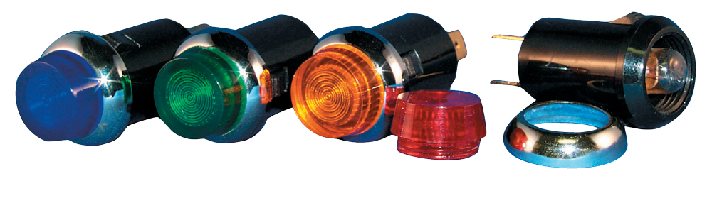 "Quickcar 3/4"" Red Warning Light - (Oil Pressure)"