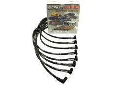 Moroso SBC HEI Sleeved 90° Plug Wires - (Under Header)