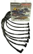 Moroso SBC HEI Sleeved 90° Plug Wires - (Over Valve Cover)