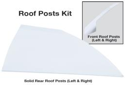 Late Model Solid Roof Post Kit - (White)