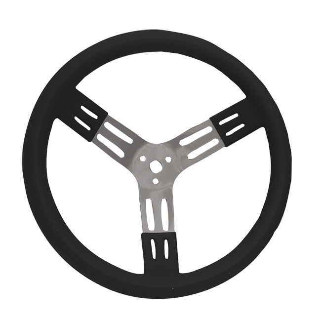 "Picture of PRP 15"" Black Aluminum Steering Wheel"