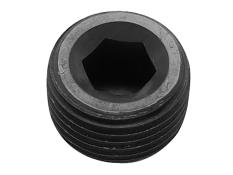 "Aluminum MPT Allen Head Pipe Plug - 1/16"" (Black)"