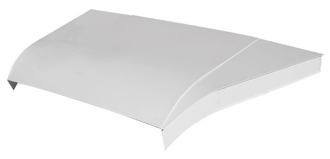 "Modified 5-pc Aluminum Hood Kit w/ 4"" Sides - (White)"