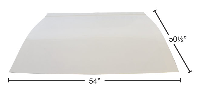 MD3 Lightweight Composite Hood - (White)