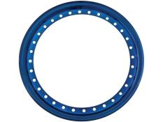 "AERO 15"" Blue Chrome Outer Beadlock Ring"