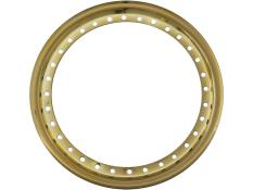 "--AERO 15"" Gold Chrome Outer Beadlock Ring"