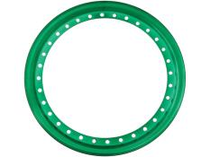 "AERO 15"" Green Chrome Outer Beadlock Ring"