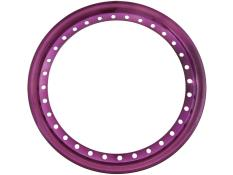 "AERO 15"" Purple Chrome Outer Beadlock Ring"
