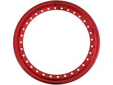 "AERO 15"" Red Chrome Outer Beadlock Ring"