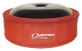"""Outerwears R2C 4"""" Offset Pre Filter - (Red)"""
