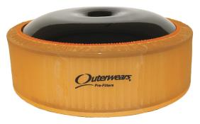"Outerwears R2C 4"" Offset Pre Filter - (Orange)"