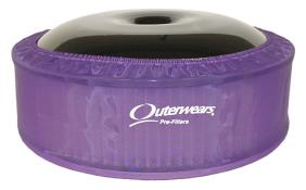 """Outerwears R2C 4"""" Offset Pre Filter - (Purple)"""