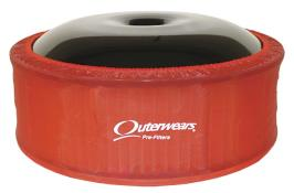 """Outerwears R2C 5"""" Offset Pre Filter - (Red)"""