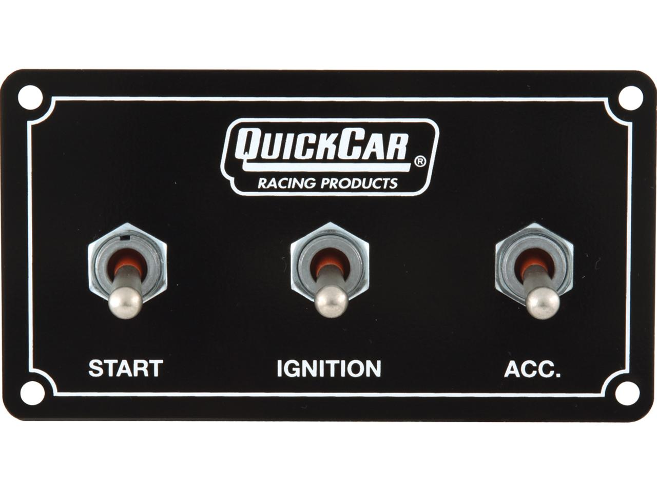 Quickcar Extreme Horizonal Ign Black Panel - 1 Acc Switch