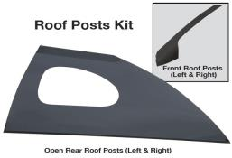 Late Model Window Opening Roof Post Kit - (Gloss Black)