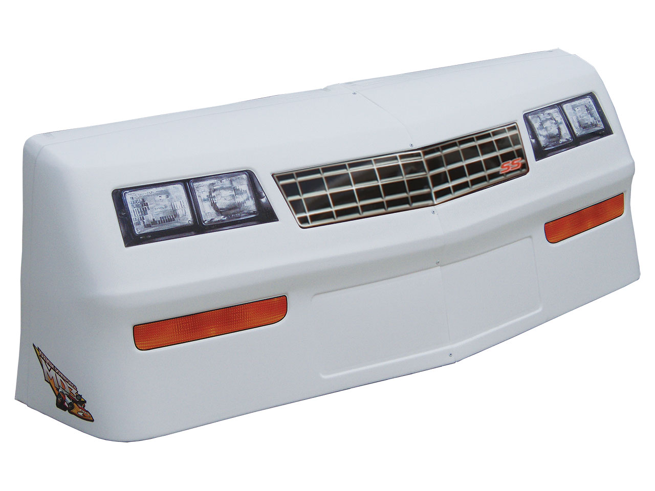 MD3 88 Monte Carlo Nose & Decal Kit - (White - Stock Grill)