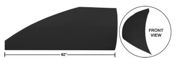 "Modified 62"" Straight Roof Post Kit - (Flat Black)"