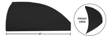 "Modified 43"" Straight Roof Post Kit - (Flat Black)"