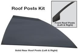 Late Model Solid Roof Post Kit - (Flat Black)