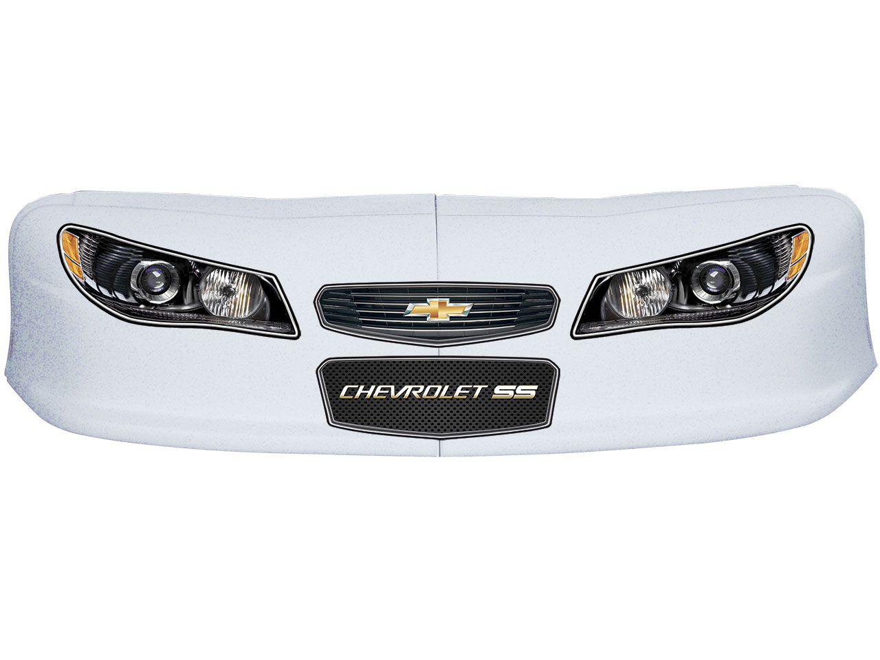 Classic Dirt Nose/Decal Combo - (White - Chevy SS)
