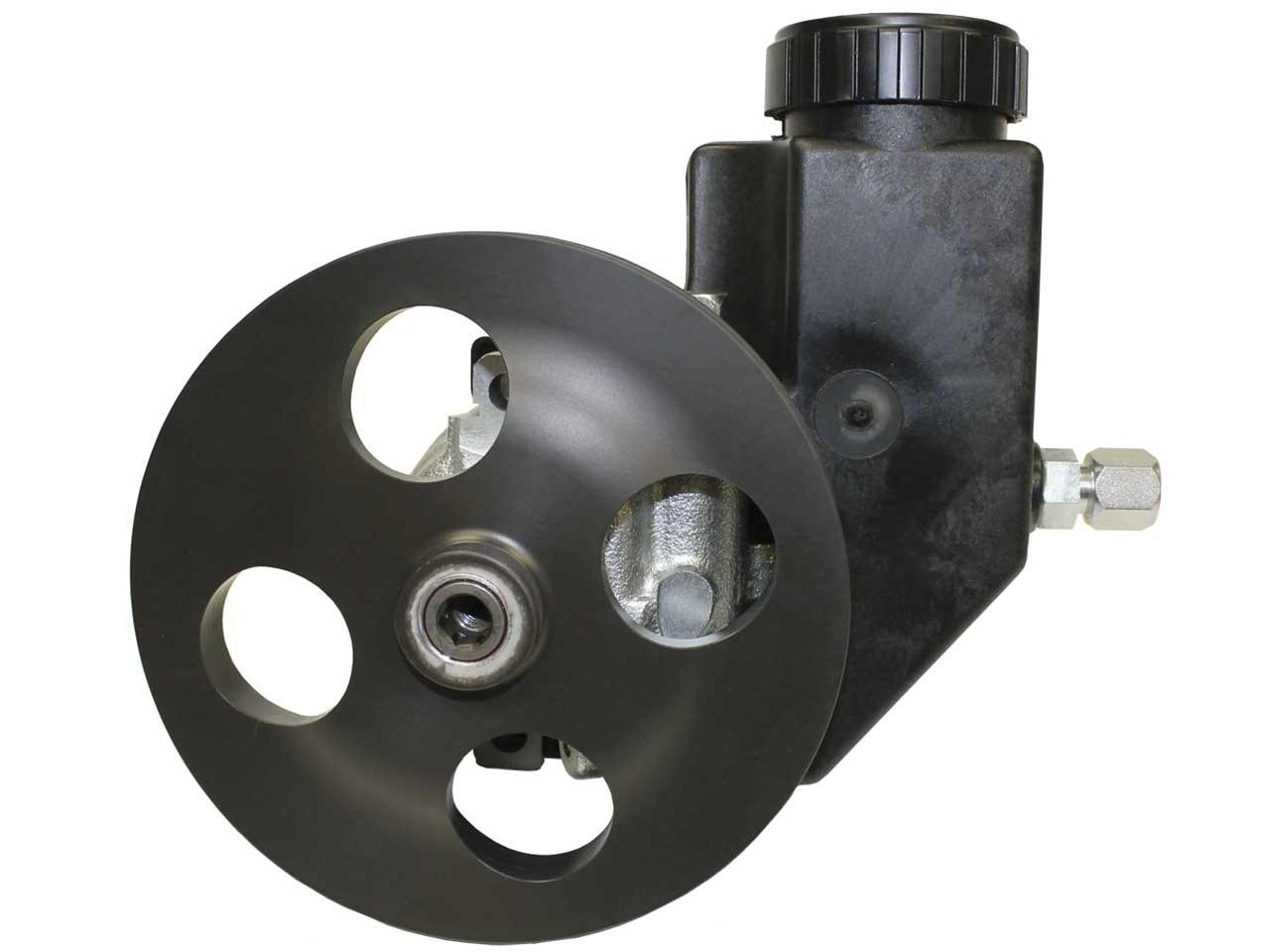 "Picture of Sweet 1300 PSI Steel Power Steering Pump - 6"" V-Belt with Plastic Reservoir"