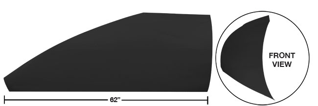 """Picture of Modified 62"""" Angled Roof Post Kit"""